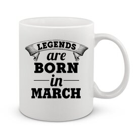 Чаша Legend are born in march